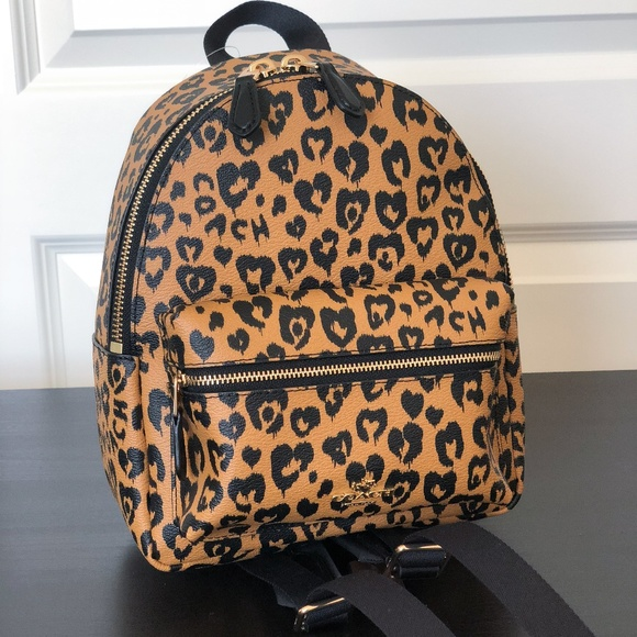 aef8cda37d Coach Mini Charlie Backpack With Wild Heart Print